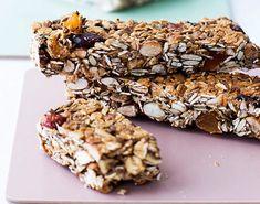 Gluten Free Snacks, Healthy Snacks, Musli Bars, Snack Bar, Raw Food Recipes, Lchf, Granola, Nutella, Peanut Butter