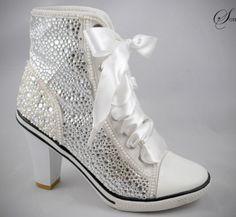 4da4a314544 Wedding Sneakers with Heels and Bling
