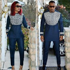 Couple Matching Outfits navy blue white african couple outfits matching african attire for couple Couple Matching Outfits. Here is Couple Matching Outfits for you. Couple Matching Outfits couples who make matching outfits look cute. African Fashion Designers, African Print Fashion, Africa Fashion, African Fashion Dresses, African Attire, African Wear, African Women, African Dress, Couples African Outfits
