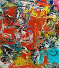 Willem de Kooning:  Composition (1955) Oil, enamel, and charcoal on canvas Very forceful, dramatic, intense
