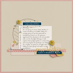 Ideas for Telling Stories on Scrapbook Pages Without Photos | Scrapbook Page by Barb Brookbank | GetItScrapped.com/blog