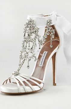 Tabitha Simmons Chandelier Crystal sandal with <3 from JDzigner www.jdzigner.com