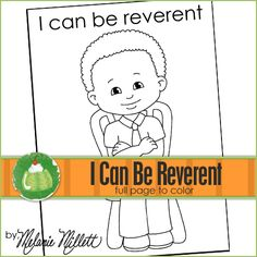 I Can be Reverent Printable Coloring Page