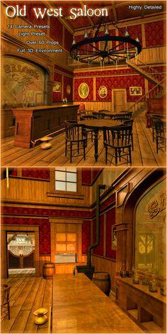 ideas for mancave Western Bar, Western Saloon, Western Decor, Pin Ups Vintage, Vintage Bar, Old West Decor, Saloon Decor, Barn Pool, Cowboys Bar