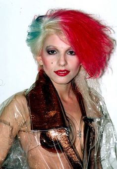 Dale Bozzio, 1980s. Miss her Missing Persons plastic clothes