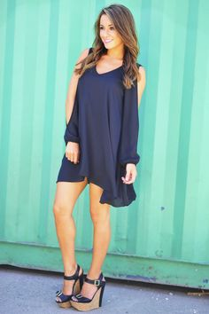 See You In A Slit Dress: Black | Hope's
