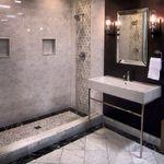 """Carrara Gris 8x20"""" sku# 485579 The Tile Shop, Carrara, Virginia Beach, Corner Bathtub, Bathroom Ideas, Bathrooms, Shopping, Design, Top"""