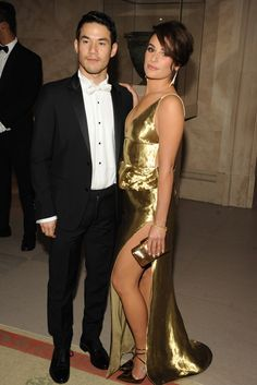 @ the Met Gala - Joseph Altuzarra and Lea Michele