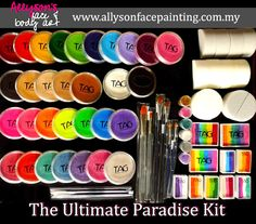 The COMPLETE set for every face painters! <3