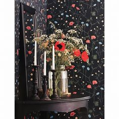 Wintertime soon, why not take the summer inside with this amazing wallpaper from Borge.