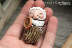 Baby brownie   fantasy ooak art doll goblin imp by FuegoFatuo, €35.00