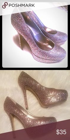 Bakers-glitter heels EUC! Only worn a few times. Adorable multi color  glitter 2dfed051d