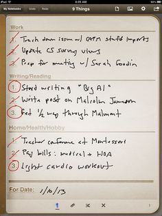 Getting 9 Things Done with Penultimate and Evernote