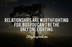 Only one fighting