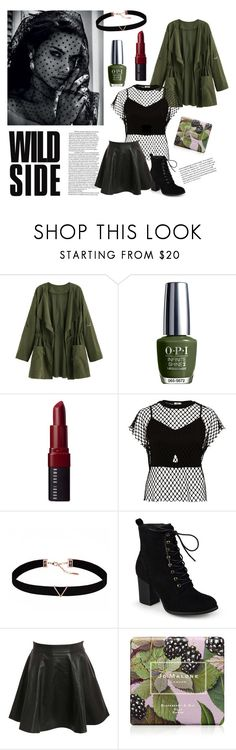 """""""wild side"""" by maisythicc ❤ liked on Polyvore featuring OPI, Bobbi Brown Cosmetics, River Island, Astrid & Miyu, Journee Collection, Pilot and Jo Malone"""