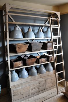 Have a fetish for this new look as well... reclaiming industrial shelving.