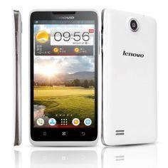 Original #Lenovo #A656 #White MTK6589 Quad Core 1.2GHz Android 4.2 Smartphone 512M Ram 4G Rom Dual SIM 5.0 Inch FWVGA IPS Screen
