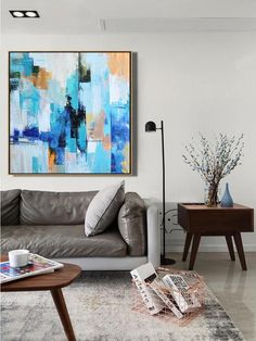 Hand painted oversized wall art, palette knife painting abstract landscape painting on canvas. Canvas Painting Landscape, Painting Canvas, Canvas Art, Abstract Paintings, Art Paintings, Painting Abstract, Original Paintings, Oil Painting Gallery, Oversized Wall Art