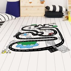 Now you can choose to play in your big city thanks to this wall sticker for kids by Chispum. Get your cars and start playing. Wall Stickers, Wall Decals, Baby Room, Kids Rugs, City, Home Decor, Ferris Wheel, Flooring, Vinyls