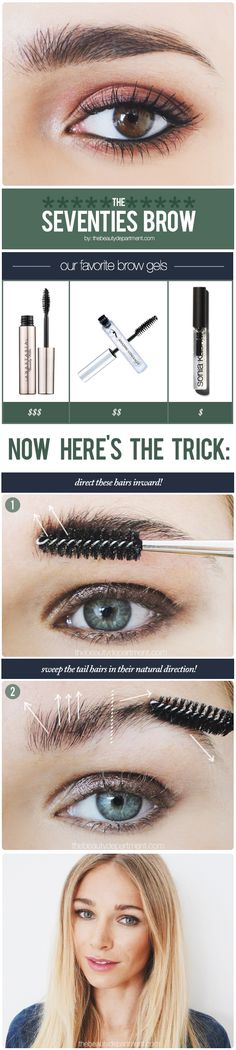 Go against the grain with this natural brow look!