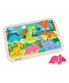 Love this Janod Dinosaurs Chunky Puzzle on #zulily! #zulilyfinds