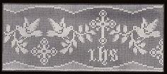 Altar Lace Filet Crochet Edging Cross Dove IHS Pattern PDF | hollywoodpatterns - Craft Supplies on ArtFire