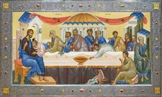Religious Paintings, Byzantine Icons, Last Supper, Orthodox Icons, Christian Art, Fresco, Spirituality, Fictional Characters, Festive
