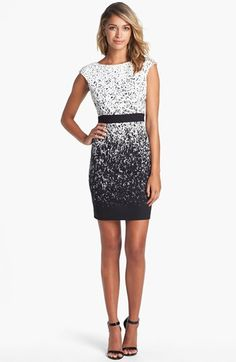 Maggy London Print Ponte Knit Sheath Dress available at #Nordstrom