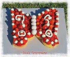 Silvia's Tortenträume: Erdbeer-Tortenboden als Schmetterling einfach Kuchen Anleitung für so eine Schmetterlingstorte ist hier: https://www.facebook.com/SilviasTortentraeume/photos/pcb.596360523798273/596360320464960/?type=1&theater Den Schmetterling kann man eigentlich mit jeder Backform machen! Ist ganz einfach...