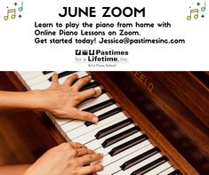 #JuneZoom 🎹 Learn to play the #piano from home with #OnlinePianoLessons on #Zoom. Get started today! Jessica@pastimesinc.com  #PianoLessons #Pastimes #ZoomLessons Christina Ramos, Piano Lessons, Creative Thinking, Get Started, Student, Play, Learning, Piano Classes, Teaching
