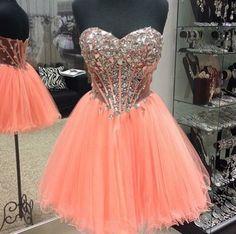 A Line Sweetheart Neck Short Prom Dresses, Formal Dresses, Evening Dresses