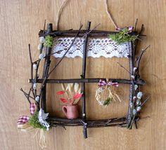 Twig Crafts, Nature Crafts, Diy Home Crafts, Garden Crafts, Craft Stick Crafts, Crafts For Kids, Fairy Crafts, Twig Christmas Tree, Christmas Crafts