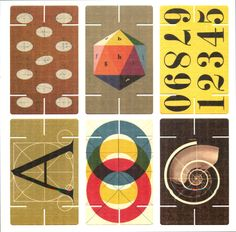 A 32 piece card set selected from the pattern and picture decks of Charles and Ray Eames. First produced in 1952