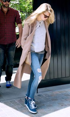 Your Complete Guide To What Shoes To Wear With Skinny Jeans via @WhoWhatWear Note: Hideous shoes