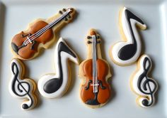 - Musical notes & violins #cookies #music #violin #guitar #musicfood http://www.pinterest.com/TheHitman14/music-cakes-food-%2B/