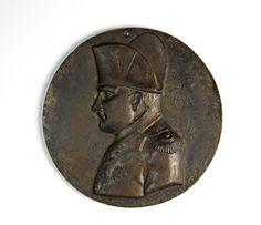 Napoleon Berliner Eisen Medaillon um 1850 Plakette KPEG Fer de Berlin Porträt