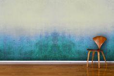 """Градиентное (или """"ombre"""") окрашивание стены выполняется губками или тряпками, смачиваемыми красителем"""