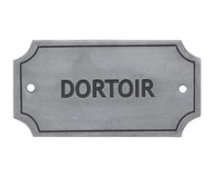 "Plaque décorative ""dortoir"", fer - L11 