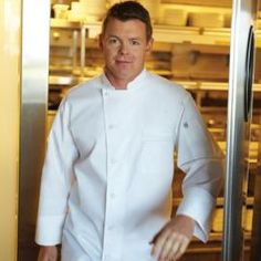 V-Series Lyss Chef Coat by ChefWorks - Cool Vent Chef Coat by Chefworks with underarm/back vents, side seam slits, useful pockets and turn-back cuffs. Contrast topstitching and 5 cloth covered buttons. http://www.chefscloset.com/catalog/vseries-lyss-chef-coat-p-35321.html