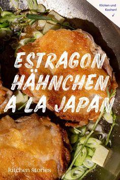 Estragon-Hähnchen ist ein beliebtes französisches Gericht, das unser Redakteur mit japanischen Aromen neu interpretiert hat. Schau dir jetzt das Rezept an - du wirst es lieben! #fusionkitchen #fusionrecipes #estragonrezepte #estragonhähnchen #japanischesessen #schnellerezepte