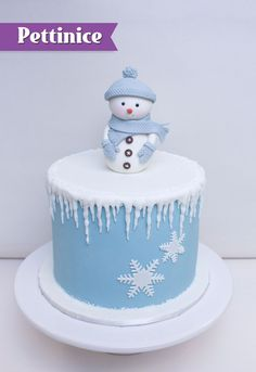 Pettinice | Christmas Snowman Cake Tutorial