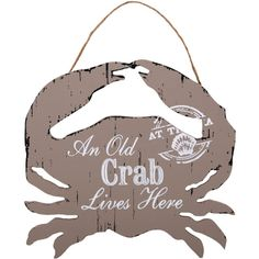 Wholesale An old crab nautical plaque - Something Different