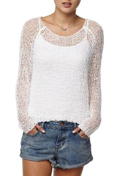 CottonOn DIP DETAIL OPEN STITCH PULLOVER Found on my new favorite app Dote Shopping #DoteApp #Shopping
