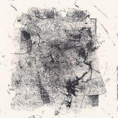 "Saatchi Art Artist Pascale Baud; Printmaking, ""Nightmare #7 - Entwined Bodies - Monotype + Ink Drawing"" #art"