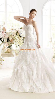 Col en cœur Elégant & Luxueux Zip Robes de mariée de luxe
