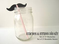 Mustache straws would be cute for a Super Mario party
