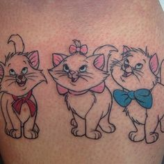 Aristocats by @katelynirvine  on @littlemissmuffff #disneyxink #disneytattoo #disneytattoos
