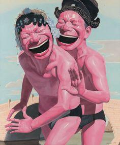 Yue Minjun  Artist in magazine Arte al Límite ed.54