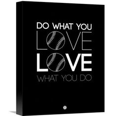 Naxart 'Do What You Love Love What You Do' Textual Art on Wrapped Canvas Size: