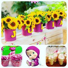 Resultado de imagem para masha and the bear birthday decorations Bear Birthday, Third Birthday, 3rd Birthday Parties, Masha Et Mishka, Marsha And The Bear, Bear Party, Deco Table, Diy Party, Holidays And Events